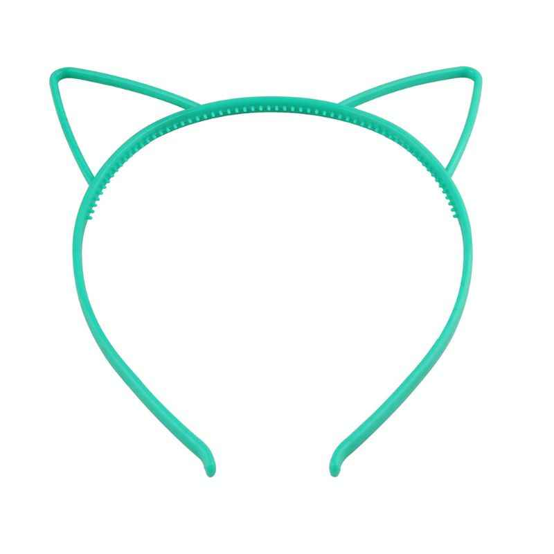 เด็กหญิงน่ารักการ์ตูนชี้แมวหู Headband หวานลูกอมสี Hollow Out ผมพลาสติก Hoop Anti - Skid ฟันเจ้าหญิง Pa