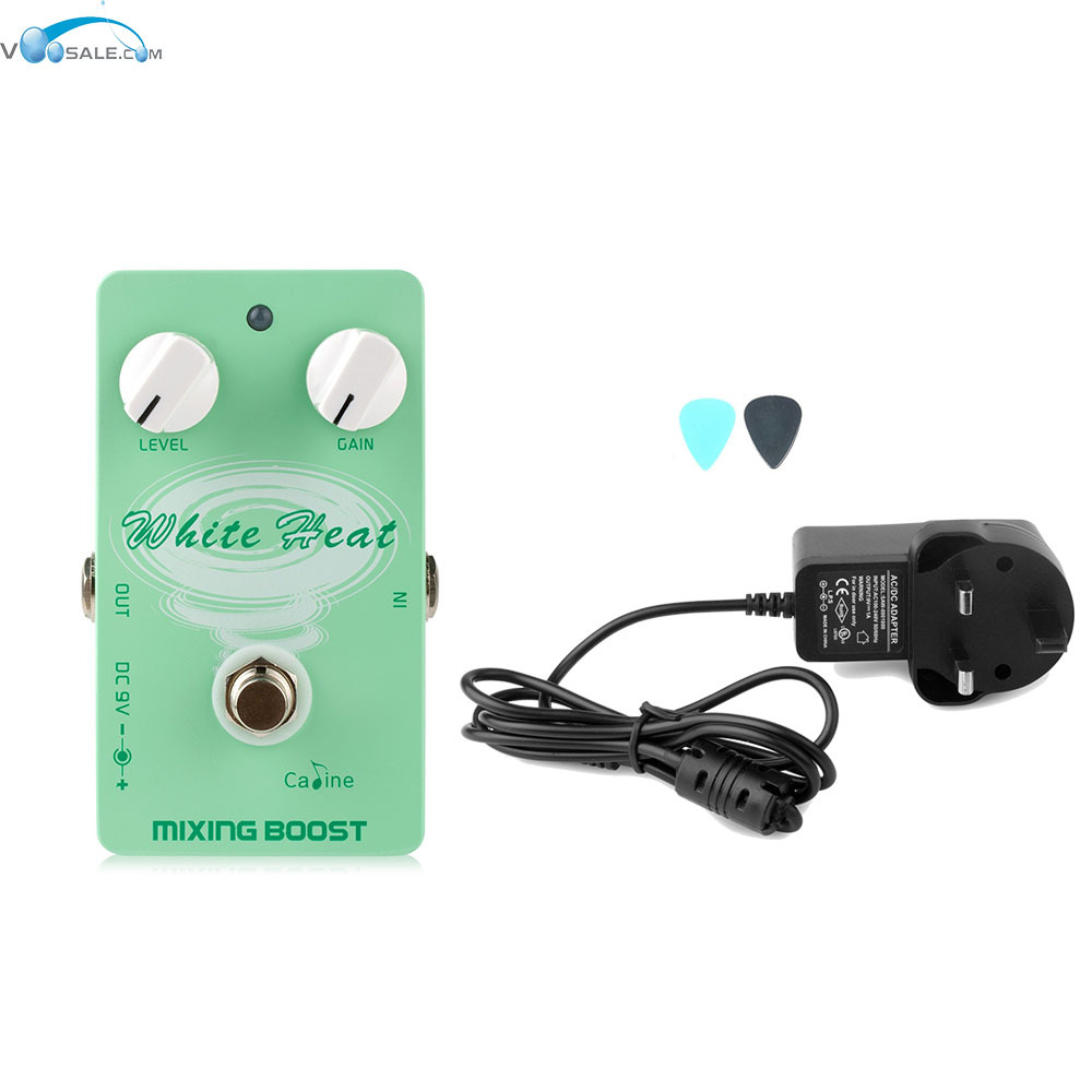 Caline CP-29 Mixing Boost Guitar with True Bypass Design Pedals+AC100V-240V to DC9V/1A Adapter Use Have AU UK US EU Plug aroma adr 3 dumbler amp simulator guitar effect pedal mini single pedals with true bypass aluminium alloy guitar accessories