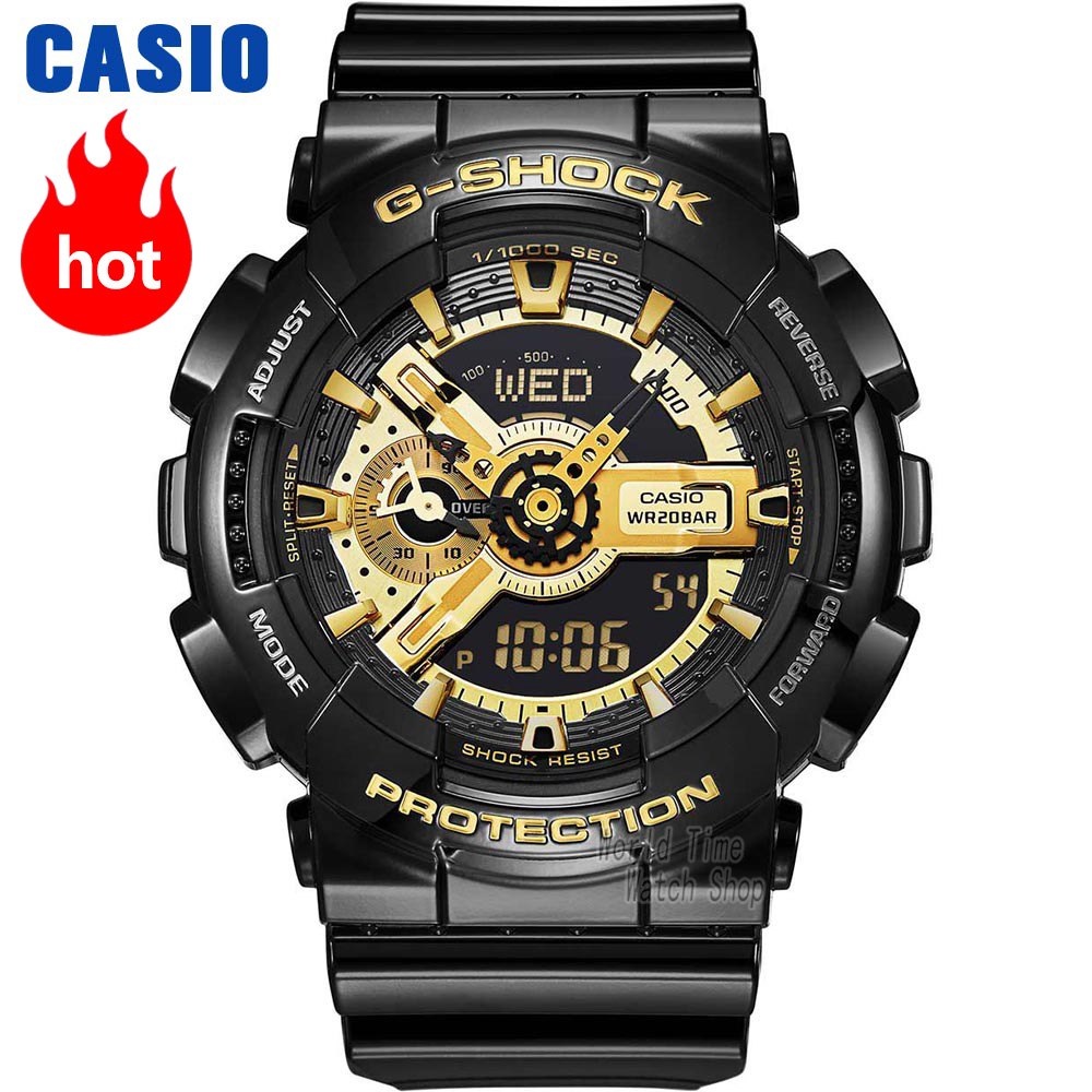 Casio watch G-SHOCK Mens quartz sports watch waterproof and shockproof black gold g shock Watch  GA-110GBCasio watch G-SHOCK Mens quartz sports watch waterproof and shockproof black gold g shock Watch  GA-110GB