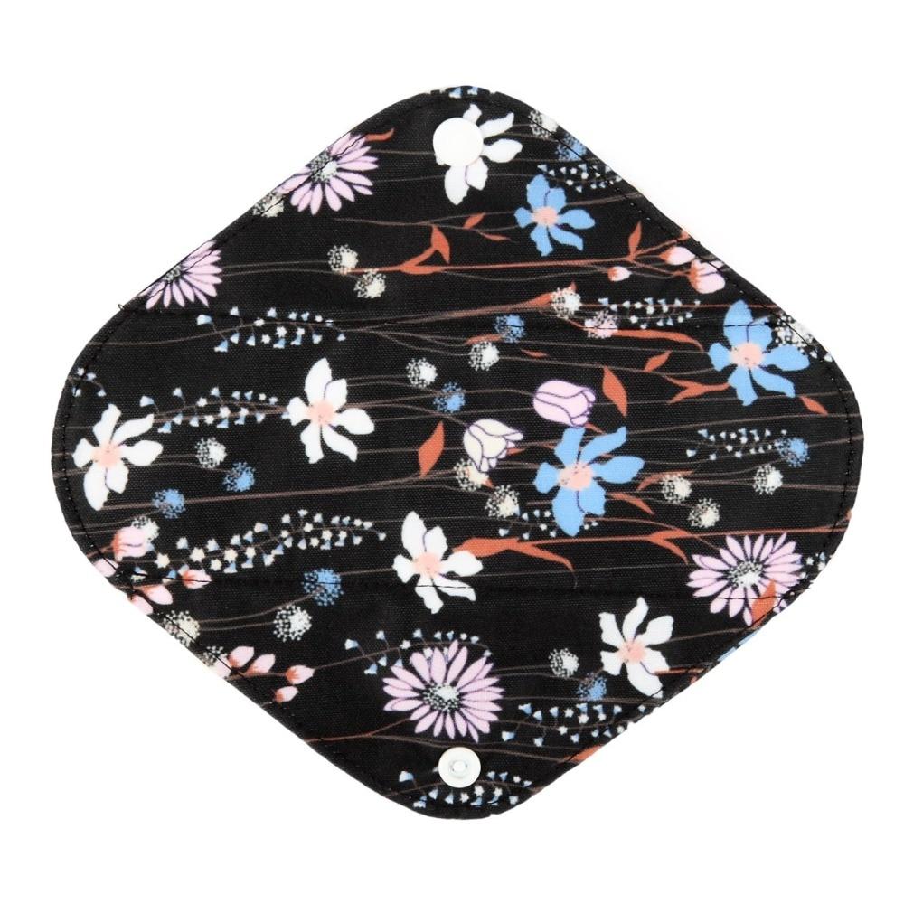 Reusable Washable Panty Liner Cloth Menstrual Sanitary Pad with Bamboo & Charcoal 5