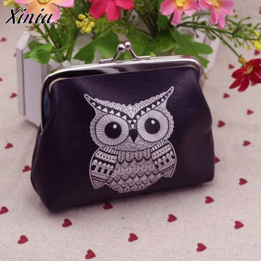 Women Mini Owl Bird Flower Wallet Card Holder Case Coin Purse Clutch Handbag Bag Wallets For Womens