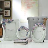 Modern Pastoral 3pcs Set 3 6 7 Inch Pansy Photo Frame Picture Frame For Family Baby