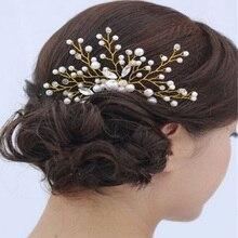 Bride Wedding Metal Crystal Hair Comb Leaves Flowers Rhinestones Hair Accessories Handmade Bridemaid Hair Jewelry Bridal Party