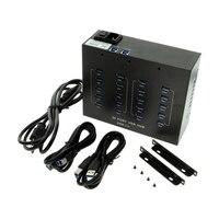 Sipolar A 213 Industrial USB hub switch,Desktop Data Transfer Refurbish Hub Built in 5V 20A Power Adapter