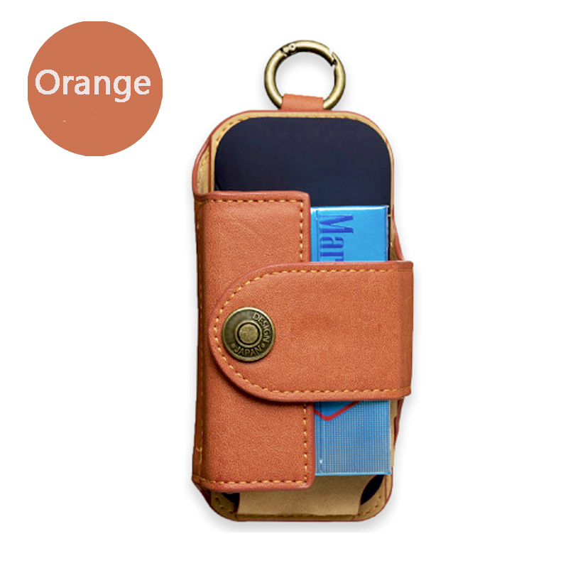 For IQOS Case Retro Leather Eletronic Cigarette Cover Fully Storable Clip-On Hangable E-cigarette Accessories Waist Bag