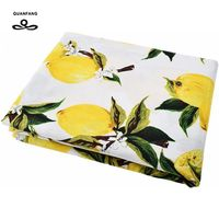 2017 New Arrived Lemon Printed Cotton Poplin Fabric Patchwork For Sewing Cloth Doll Sheet Skirt Dress
