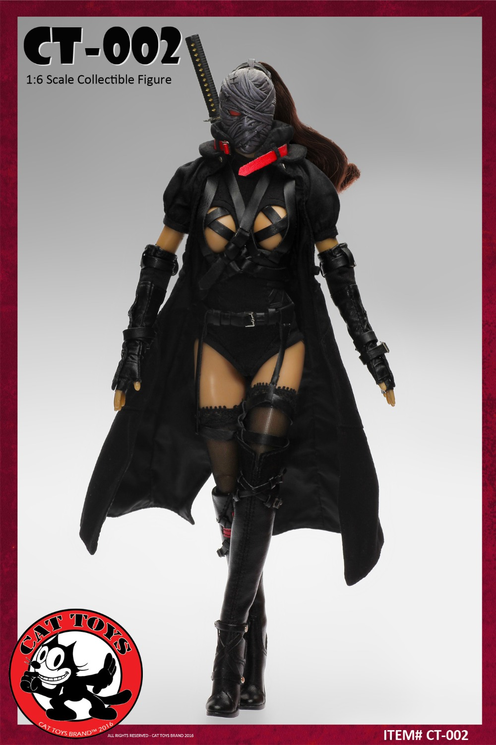 CAT TOYS CT002 Collectible Model plastic toy 1/6th scale female figure Dark Mourner 12 Action figure doll 1 6 scale model metal gear solid v the phantom d dog diamond dog about 23cm collectible figure model toy gift