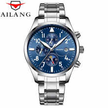 AILANG Mens Automatic Mechanical Watch Time Moon Phase Waterproof Luminous hands Casual Military Sport Watches Relogio Masculino - DISCOUNT ITEM  40% OFF All Category