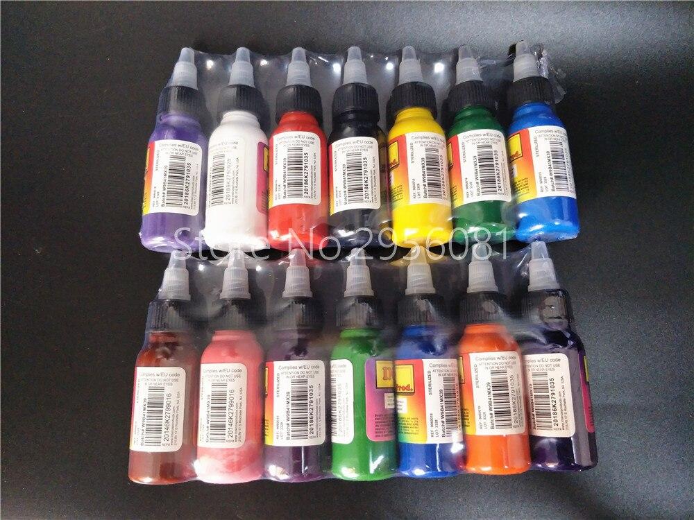 14pcs tattoo ink permanent makeup pigment mix colors tattoo ink kit 30ml(1OZ) tattoo paint set