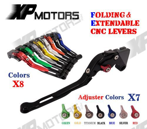 CNC Adjusatable Folding Extending Brake Clutch Lever For BMW K1200R 05-08 K1200S 04-08 K1300 R/S/GT 09-15 K1600 GT/GTL 11-15 adjustable billet long folding brake clutch levers for bmw k1600 gt gtl 11 14 12 13 k1300 k1200 r s r1200 r rt s st gs 04 14 05