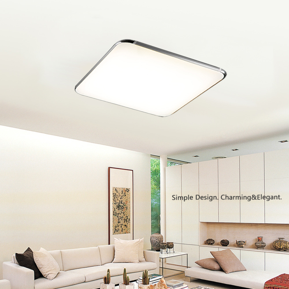 LED Ceiling Light 36W Square Kitchen Light,2600LM 100~240V 29inch ...