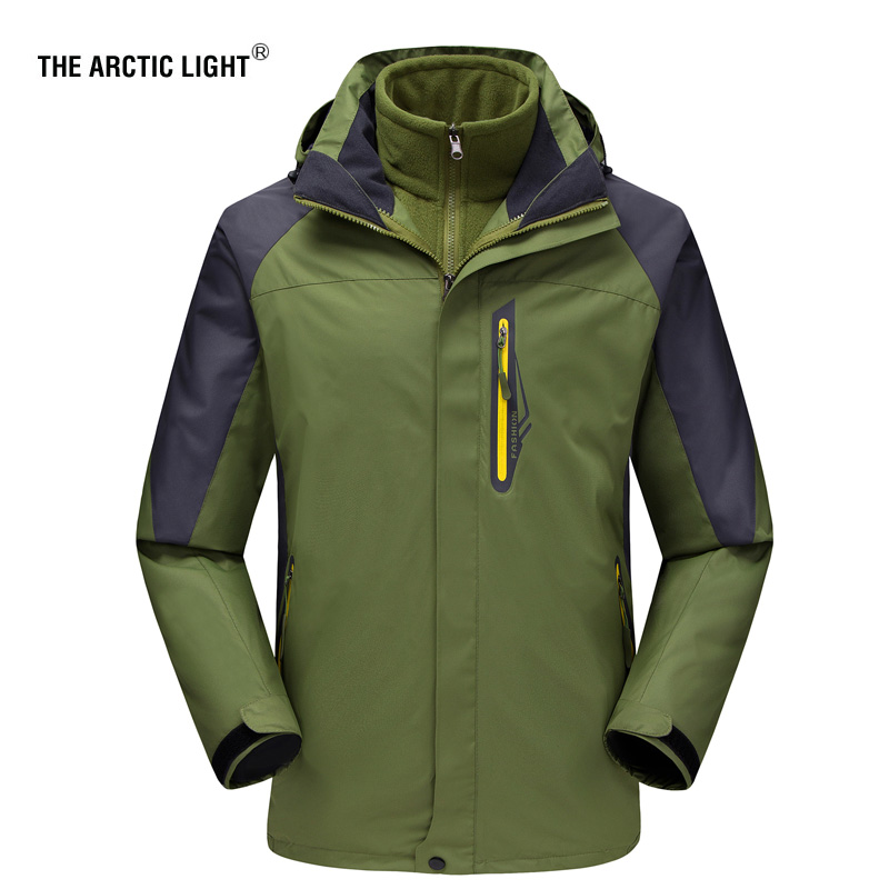 THE ARCTIC LIGHT New Men ski Jackets Outdoor Hiking Trekking Warm Snowboard Coat Male Waterproof Snow Jacket Sportswear Winter men and women winter ski snowboarding climbing hiking trekking windproof waterproof warm hooded jacket coat outwear s m l xl