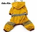 Оду-Рин собаку плащ малого и среднего размера собака одежда со светоотражающими ремень с регулируемой эластичной плащ товаров для домашних животных
