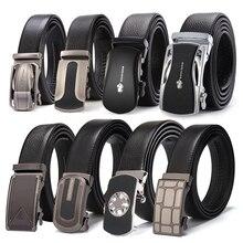 BISON DENIM Brand Men Belts Genuine Leather Real Cowskin Men's Belt