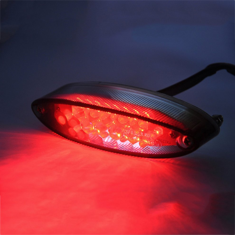 2019 Universal Motorcycle LED Tail Light Brake Indicator Lamp Motorbike Rear Lamp Modified Accessories Decorative Light Hot