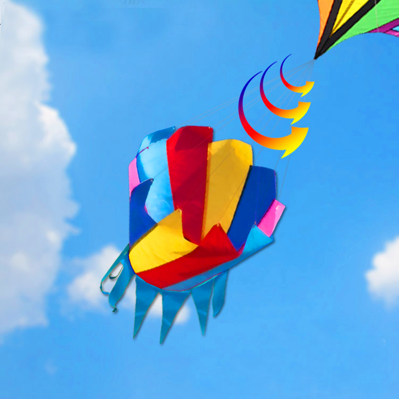 Free Shipping High Quality 2pcs/lot Giant Kite Windsock Rainbow Kite Flying Outdoor Toys Weather Vane 3d Kite Butterfly