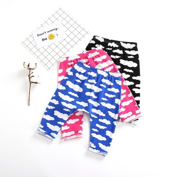 Toddler Baby Boy Girl PP Leggings Sweatpants Cotton Trousers Clothes Clound Printed Harem Pants Trousers Bottom Leggings 3