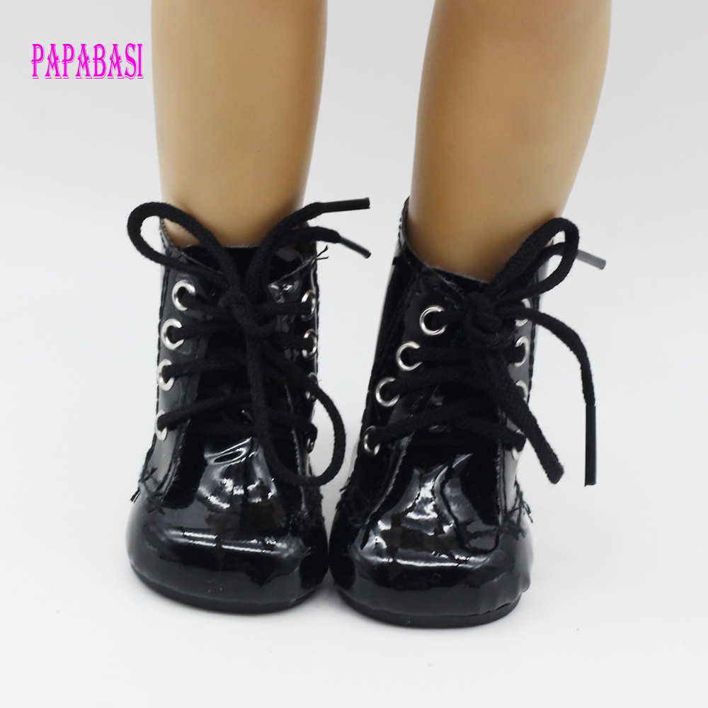 """Hot new style Black Boot For popular """"American girl doll shoes"""