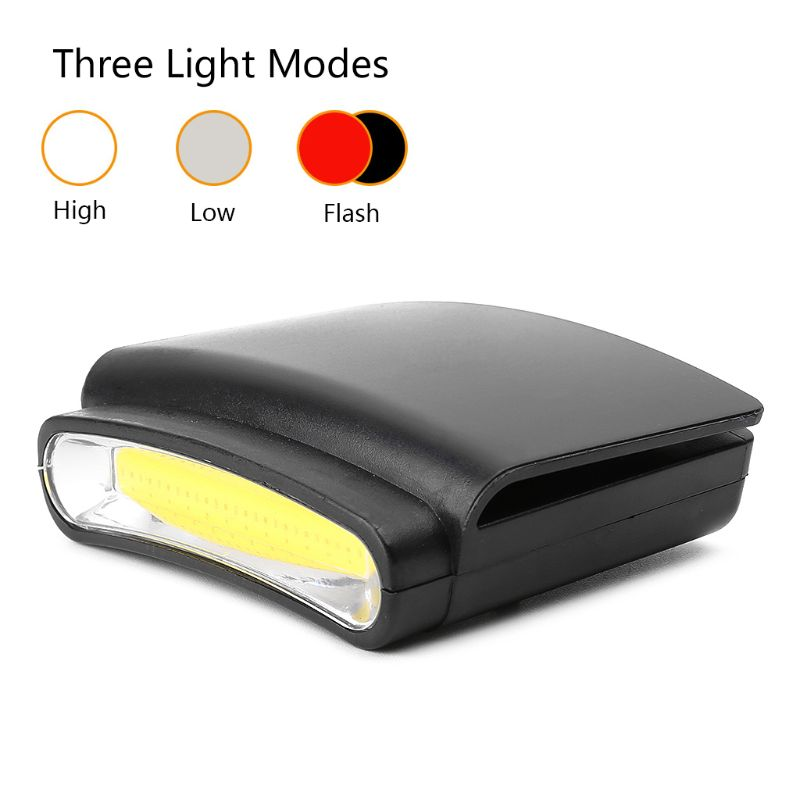 Home Appliances Cob Led Flashlight Clip-on Hat Headlight Camping Hiking Lamp Cap Clip Light