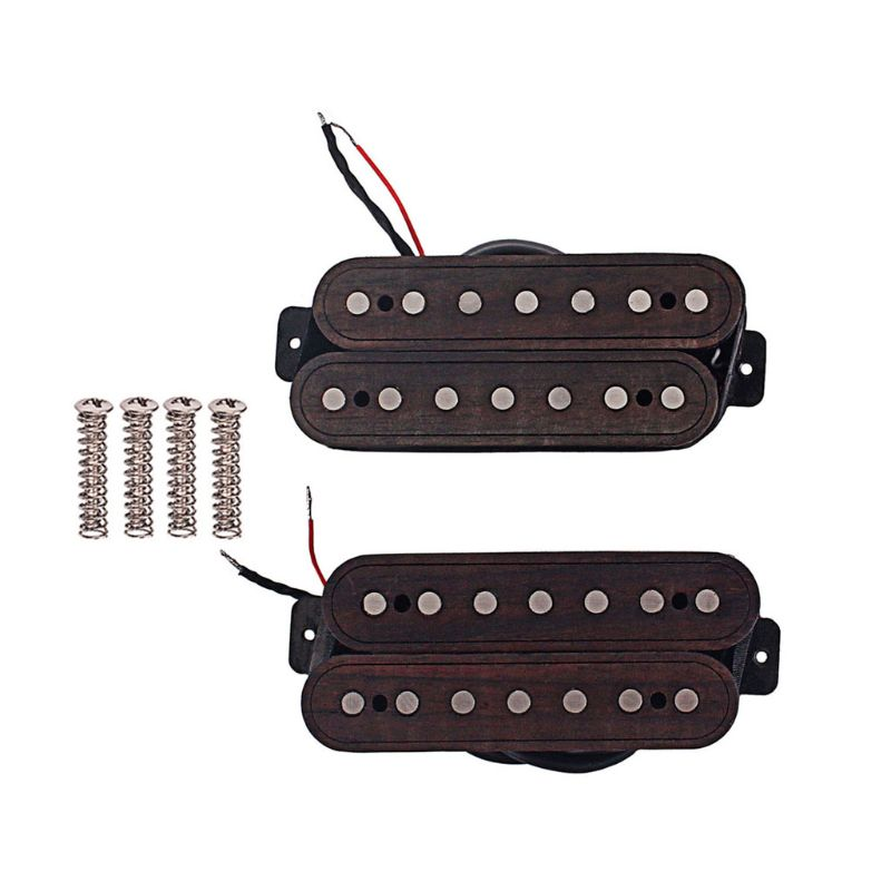 1 set 7 strings oblique neck and Bridge Guitar Pickup slope Humbucker Pickup Parts Accessories W20