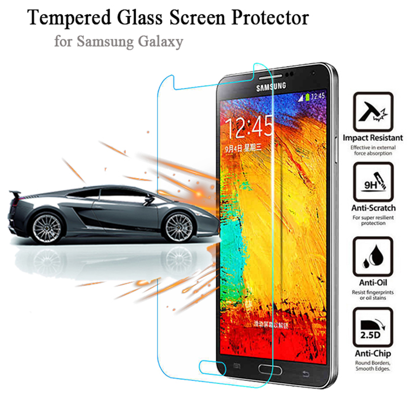 2.5D Tempered Glass for Galaxy J5 J7 S3 S4 S5 mini S6 LCD Anti-Explosion Screen Protector for Samsung Note 3 4 5 Protective Film