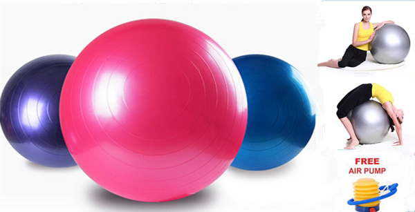 20pcs/lot 65cm Yoga Fitness Ball Slimming Thin Body Weight Loss Sport Pilates Ball with a free Air Pump