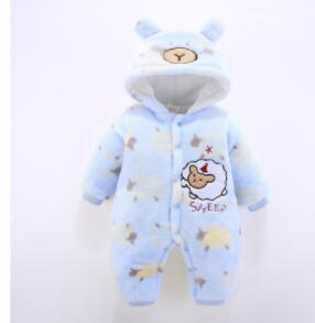 New Baby Rompers Winter thicken children cartoon  Newborn toddler Clothes Infant Jumpsuits warm clothing