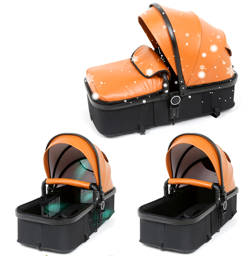 Luxury Baby Stroller 2 in 1 Carriage High Landscape Pram ...