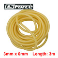 3mm x 6mm Natural Latex Slingshots Rubber Tube 3m Tubing Band for Hunting Catapult Elastic Part Fitness Bungee Equipment 3060
