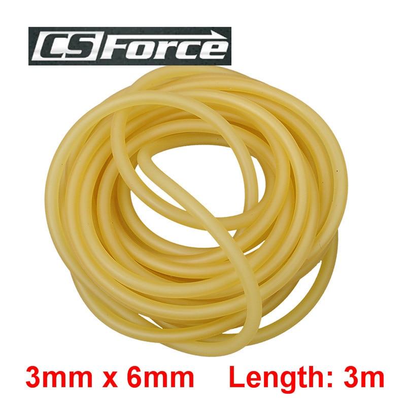3mm x 6mm in lattice naturale fodero in gomma tubo 1m per la caccia di fionda Ed