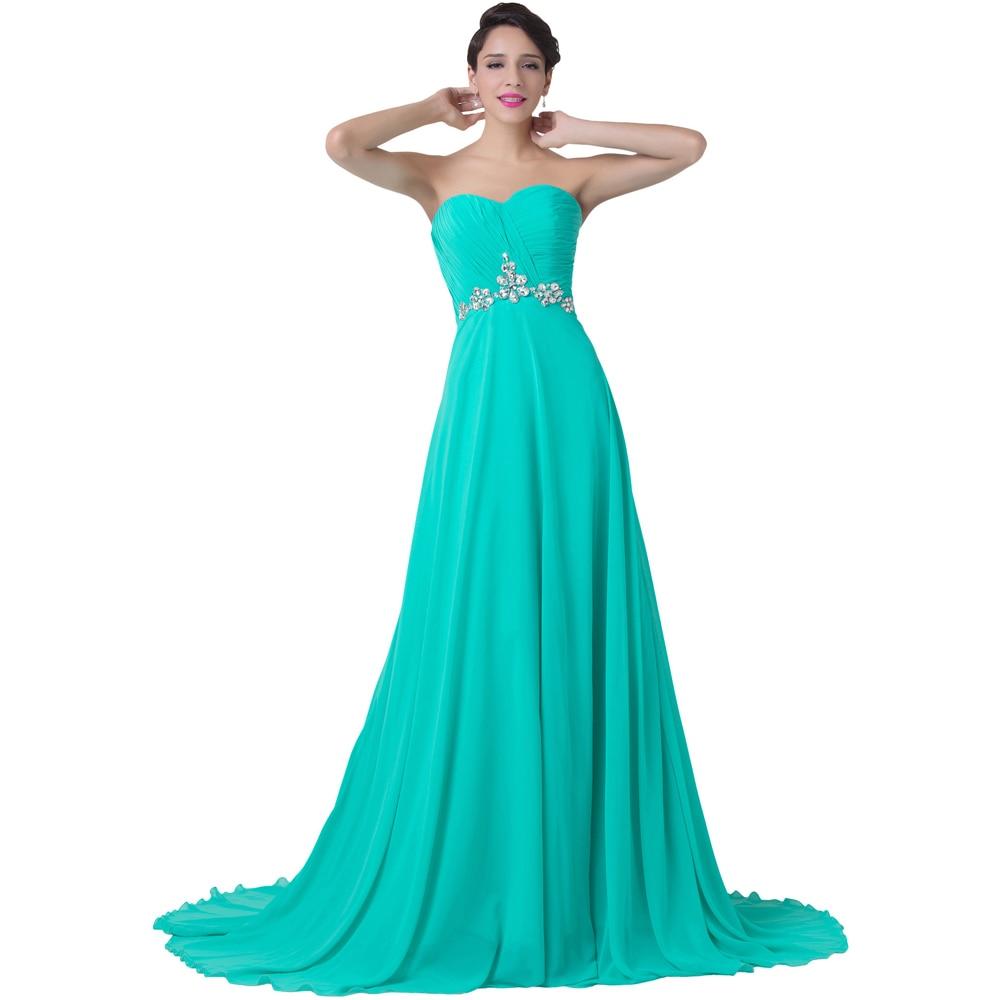 Vestidos de Noche color turquesa Partido Atractivo Sin Tirantes Del Vestido  Formal Longitud del Piso de