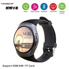 KW18 Bluetooth Smartwatch SIM TF Karte 1,3 »IPS LCD Smart Armbanduhr Herzfrequenz anti-verlorene für IOS Android Phone Wearable Uhr