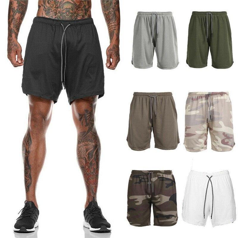Running Shorts Sport Shorts Mannelijke Sneldrogend Training Oefening Joggen Gym Shorts met Ingebouwde pocket Liner