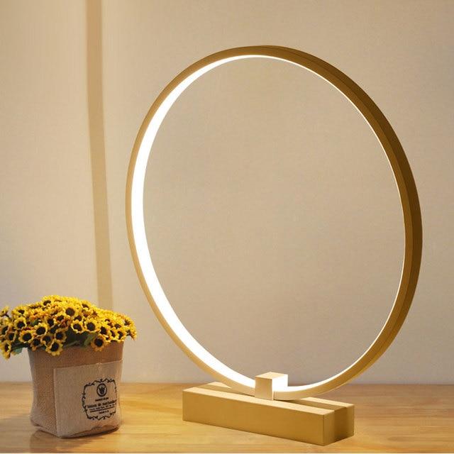 de Mesa moderna minimalista redonda forma Despeje Lámparas ybYfg76