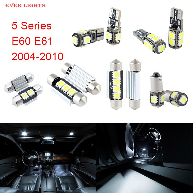 Prix pour 17 pcs LED Canbus Éclairage Intérieur Package Kit Pour BMW Série 5 E60 E61 (2004-2010)