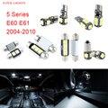 17 unids LED Canbus Luces Interiores Paquete Kit Para BMW Serie 5 E60 E61 (2004-2010)