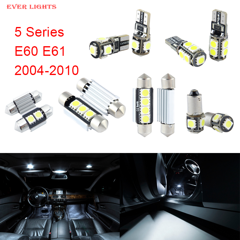 17pcs LED Canbus Interior Lights Kit Package For BMW 5 Series E60 E61 (2004-2010) источник света для авто eco fri led 17 x canbus bmw e60 5 2004 2010