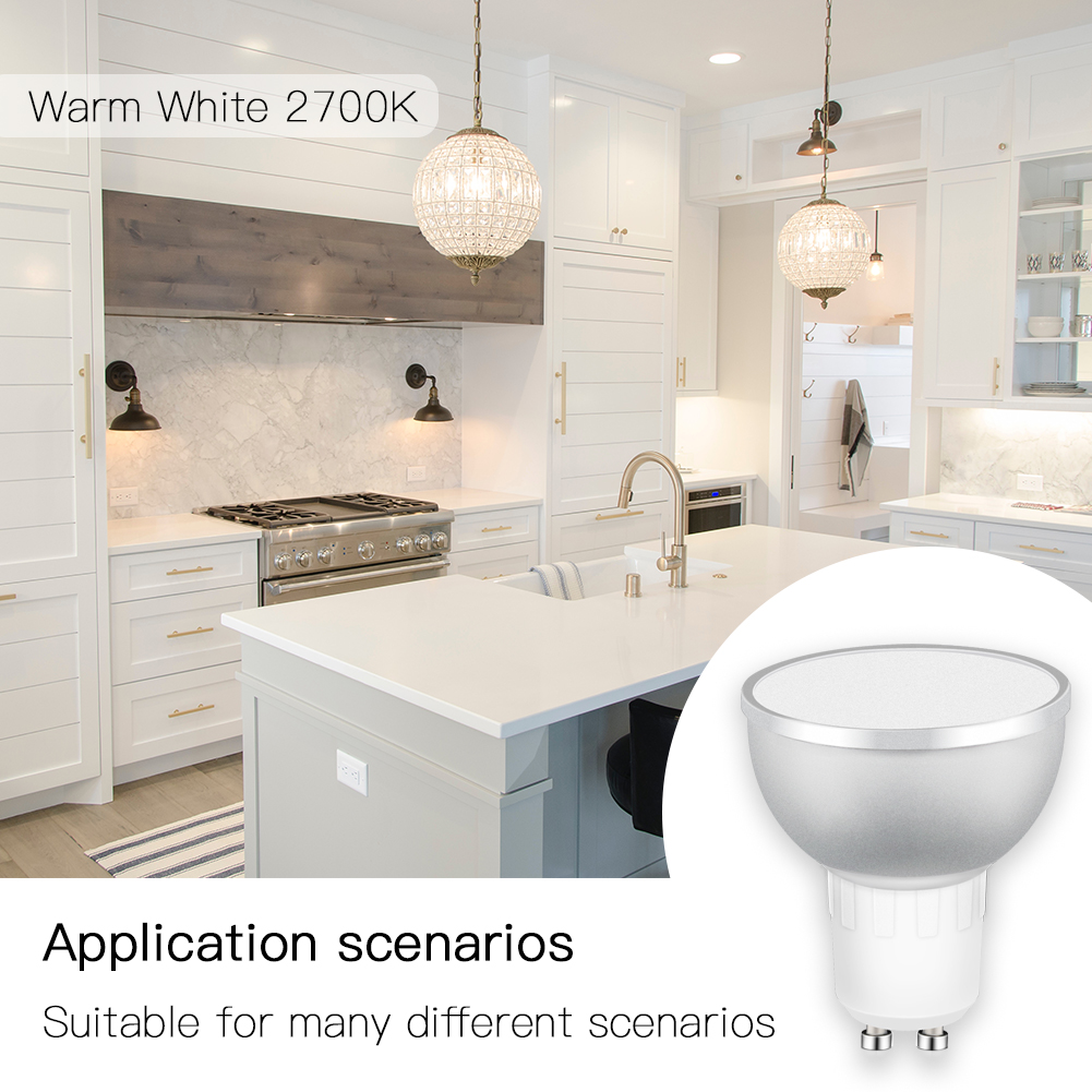 WiFi Smart LED Light Bulb 2700 6500k RGBCW Warm White Daylight Multicolor 50W Equivalent Work with Alexa Google Home GU10 4 Pack-in Smart Home Control from Home Improvement    2