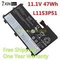 11.1 v 47wh bateria para lenovo thinkpad t430u ultrabook l11s3p51 45n1090 45n1088 45n1089 45n1091 l11n3p51 121500077
