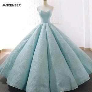 Image 1 - J66675 jancember 15 年 quinceanera のドレスストラップレスの床の長さウエディングパーティードレス 2019 vestidos デ quinceaneras