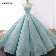 J66675 jancember 15 years quinceanera dress strapless ball gown floor length prom party dresses 2019 vestidos de quinceaneras(China)