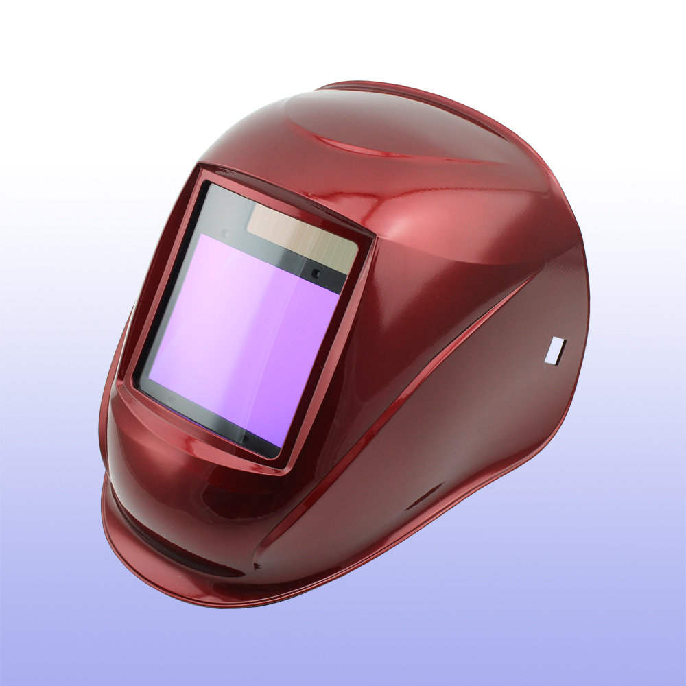 Auto darkening welding helmet/welding mask/MIG MAG TIG(Grand-918I RED)/4 arc sensor din7 din12 shading area solar auto darkening welding helmet protection face mask welder cap for zx7 tig mig welding machine
