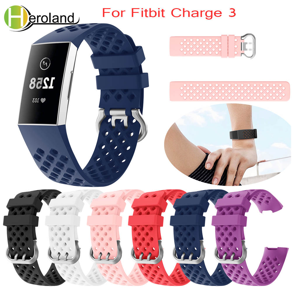 watch band for Fitbit Charge 3 Strap Replacement Silicone Bracelet Smart watch Band  Men Women  Accessories for Fitbit Charge 3watch band for Fitbit Charge 3 Strap Replacement Silicone Bracelet Smart watch Band  Men Women  Accessories for Fitbit Charge 3