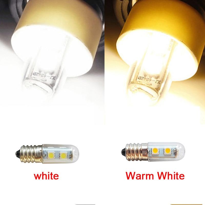 Mini LED Bulb 7LED AC 220V E14 1W 5050 SMD Pure/Warm White Refrigerator Light Bulb Lamp