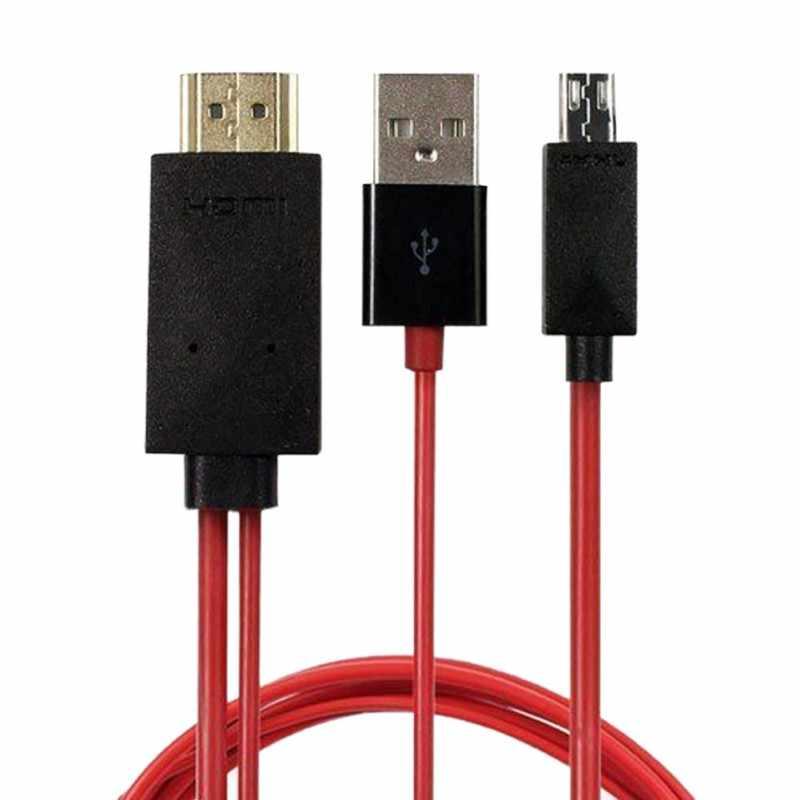 Micro USB a HDMI MHL a HDMI adaptador 1080P Cable de TV HD adaptador para teléfonos Android Samsung 11 PIN