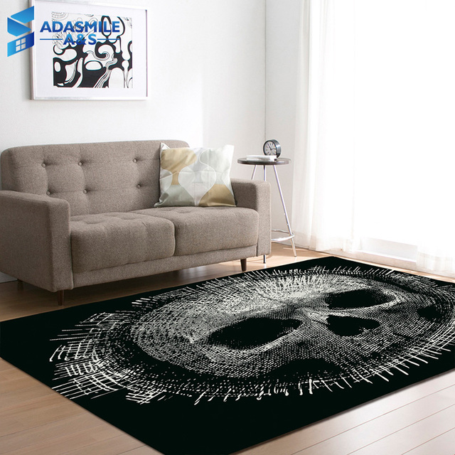 Halloween Party Decoration Rugs 3d Creative Skull Carpets Boys Room