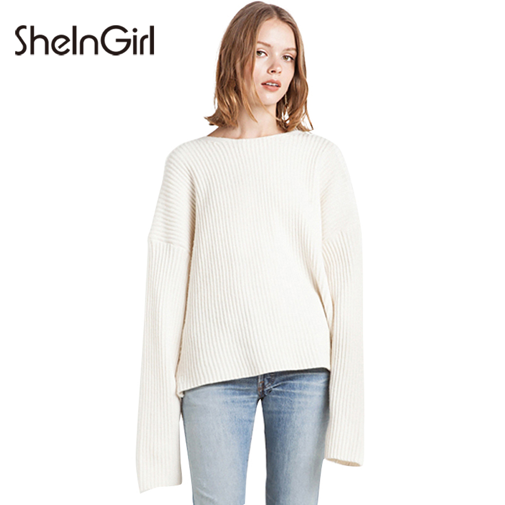 Aliexpress.com : Buy SheInGirl 2017 New White Sweater Women O neck ...
