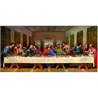 5D DIY Round Diamond Painting Embroidery Christianity Jesus Religious Needlework Last Supper Pictures Cross Stitch Craft