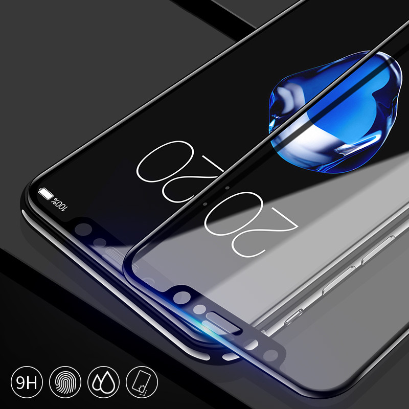 9H Hardness 5D Curved Edge Full Cover Tempered Glass for iphone X 8 7 6 6S Plus Screen Protector film in Phone Screen Protectors from Cellphones Telecommunications