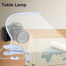 Desk Lamp USB LED kindle Book Night Reading Lamp For Bed Modern Spring Clip Light Bedside Flexible Student Table Lamp with clamp(China)